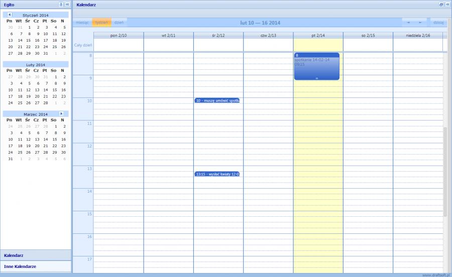 Kalendarz Egito CRM